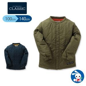 子供服 男の子 ニットキルトチケット付きジャケット カーキ/ネイビー 100cm・110cm・120cm・130cm・140cm キッズ ジュニア|nishimatsuya