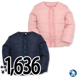 子供服 女の子 フリル付きノーカラージャケット 100cm・110cm・120cm ガールズ 女児 キッズ ベビー 小児 児童 子ども服 おしゃれ|nishimatsuya