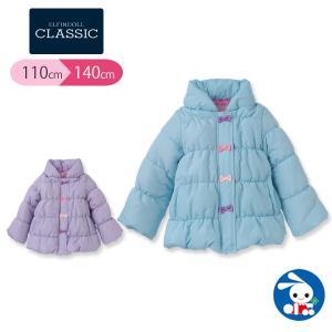 子供服 女の子 防寒リボン付きコート ブルー/パープル 110cm・120cm・130cm・140cm ガールズ 女児 キッズ ベビー 小児 児童|nishimatsuya