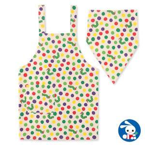 子供服 男の子 三角巾付きはらぺこあおむしエプロン 110cm・130cm キッズ ジュニア 男児 ベビー 小児 児童 子ども服 おしゃれ|nishimatsuya
