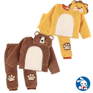 ベビー服 男の子 ライオン・くま帽子付きボア3点スーツ 80cm・90cm・95cm 赤ちゃん ベビー 新生児 乳児 幼児 子供服 おしゃれ|nishimatsuya