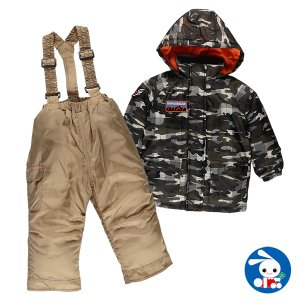 ベビー服 男の子 冬 カモフラプリントセパレートジャンプスーツ 90cm 赤ちゃん ベビー 新生児 乳児 幼児 子供服 おしゃれ|nishimatsuya