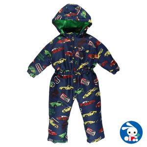 ベビー服 男の子 冬 くるま総柄ジャンプスーツ 90cm 赤ちゃん ベビー 新生児 乳児 幼児 子供服 おしゃれ|nishimatsuya