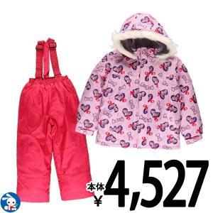 子供服 女の子 冬 リボン・ハート柄ジャンプスーツ 100cm・110cm・120cm・130cm ガールズ 女児 キッズ ベビー 小児 児童|nishimatsuya