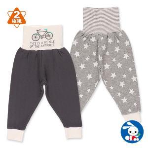 ベビー服 男の子 2枚組腹巻付きキルトスペアパンツ(自転車/星) 70cm・80cm・90cm・95cm 赤ちゃん ベビー 新生児 乳児 幼児 子供服|nishimatsuya