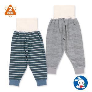 ベビー服 男の子 2枚組腹巻付きフリーススペアパンツ(ネイビー・グレー) 80cm・90cm・95cm 赤ちゃん ベビー 新生児 乳児 幼児 子供服|nishimatsuya
