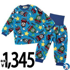 ベビー服 男の子 冬 フリース腹巻・肩ボタン付き長袖パジャマ(トーマス) 90cm・95cm・100cm 赤ちゃん ベビー 新生児 乳児 幼児 子供服|nishimatsuya