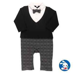 ベビー服 男の子 長袖カバーオール(フォーマル風) 70cm・80cm 赤ちゃん ベビー 新生児 乳児 幼児 子供服 おしゃれ nishimatsuya