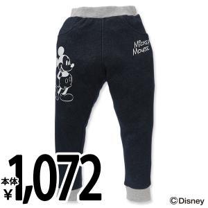 子供服 男の子 冬 ウラぽかミッキーデニムパンツ ネイビー 100cm・110cm・120cm キッズ ジュニア 男児 ベビー 小児 児童 子ども服|nishimatsuya