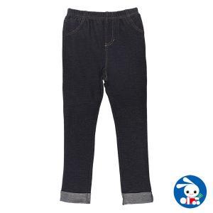 子供服 女の子 無地ニットデニムロングレギンスパンツ 100cm・110cm・120cm ガールズ 女児 キッズ ベビー 小児 児童 子ども服|nishimatsuya