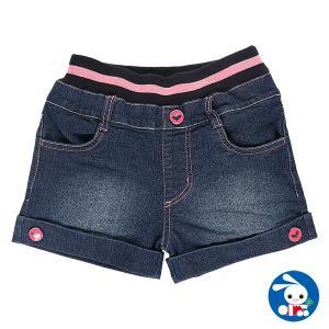 子供服 女の子 秋 ウエストラインストレッチデニムショートパンツ 120cm・130cm・140cm ガールズ 女児 キッズ ベビー 小児 児童 子ども服|nishimatsuya
