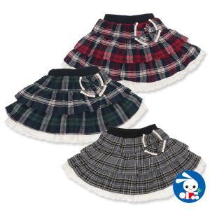 子供服 女の子 先染め格子リボン付きスカート 100cm・110cm・120cm・130cm・140cm ガールズ 女児 キッズ ベビー 小児 児童|nishimatsuya