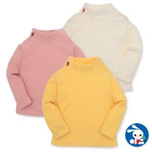 ベビー服 女の子 冬 ワンポイント付きフリースコールハイネックTシャツ 80cm・90cm・95cm 赤ちゃん ベビー 新生児 乳児 幼児 子供服 nishimatsuya
