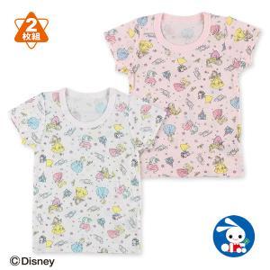 ベビー服 女の子 2枚組半袖シャツ(プリンセス) 80cm・90cm・95cm 赤ちゃん ベビー 新生児 乳児 幼児 子供服 おしゃれ|nishimatsuya