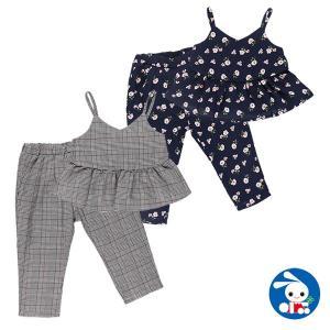 ベビー服 女の子 サロペットスカート(花・グレンチェック) 80cm・90cm・95cm 赤ちゃん ベビー 新生児 乳児 幼児 子供服 おしゃれ|nishimatsuya
