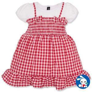 cba133d0a6918 ベビー服 女の子 フェイクレイヤード風チェック柄ワンピース 80cm・90cm・95cm 赤ちゃん ベビー 新生児 乳児 幼児 子供服 おしゃれ
