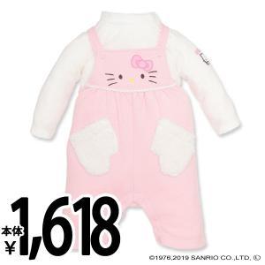 ベビー服 女の子 裏毛ハローキティブークレーコンポスーツ 70cm・80cm 赤ちゃん ベビー 新生児 乳児 幼児 子供服 おしゃれ|nishimatsuya