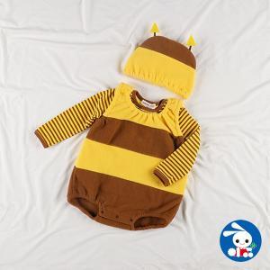 ベビー服 女の子 冬 フリースなりきり3点セット(ハチ) 70cm・80cm 赤ちゃん ベビー 新生児 乳児 幼児 子供服 おしゃれ|nishimatsuya