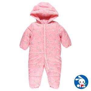 ベビー服 女の子 冬 雪だるま中綿ジャンプスーツ 90cm・95cm 赤ちゃん ベビー 新生児 乳児 幼児 子供服 おしゃれ|nishimatsuya