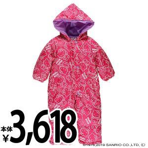 ベビー服 女の子 冬 スキージャンプスーツ(ハローキティ) 90cm 赤ちゃん ベビー 新生児 乳児 幼児 子供服 おしゃれ|nishimatsuya