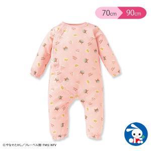 ベビー服 女の子 バンダイ)アンパンマン ニットキルト 前開きカバーオール(ピンク) 70cm・80cm・90cm 赤ちゃん ベビー 新生児 乳児