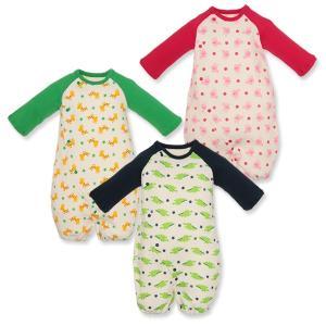ベビー服 新生児 春 スムースラグラン長袖コンビドレス(アニマル総柄) 新生児50-60cm 男の子 女の子 赤ちゃん ベビー 乳児 幼児 子供服|nishimatsuya