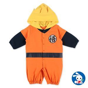 ベビー服 新生児 スムース着ぐるみ長袖コンビドレス(ドラゴンボールスーパー) 新生児50-60cm 男の子 女の子 赤ちゃん ベビー 乳児 幼児|nishimatsuya