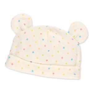 ベビー服 新生児 パイル耳付き帽子(水玉) 42-48cm 男の子 女の子 赤ちゃん ベビー 乳児 幼児 子供服 おしゃれ|nishimatsuya