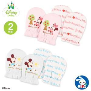 ベビー服 新生児 [ディズニー]2枚組スムースミトン(ミッキー・ミニー) 男の子 女の子 赤ちゃん ベビー 乳児 幼児 子供服 おしゃれ|nishimatsuya