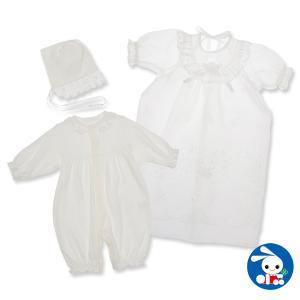 スムースフード付きセレモニーコンビドレス【新生児50-60cm】|nishimatsuya