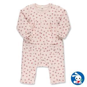 ベビー服 女の子 冬 ニットキルト総柄ポケット付き長袖カバーオール 70cm・80cm [女の子 冬もの] 赤ちゃん ベビー 新生児 乳児 幼児 nishimatsuya