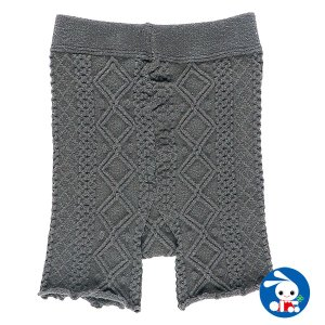 子供服 女の子 冬 1分丈オーバーパンツ(グレーケーブル編み) 120-140cm ガールズ 女児 キッズ ベビー 小児 児童 子ども服 おしゃれ|nishimatsuya