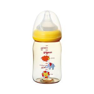 ピジョン)母乳実感 哺乳びん(プラスチック製 アニマル柄) 160ml