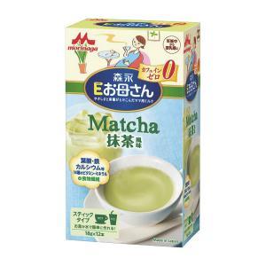 森永)Eお母さん 抹茶風味 18g×12本|nishimatsuya