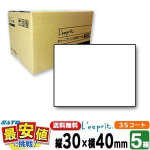 レスプリラベル【5箱】標準白無地 30×40  3Sコート紙 リボン同梱5ケース/1ケース当り15,200円|nishisato