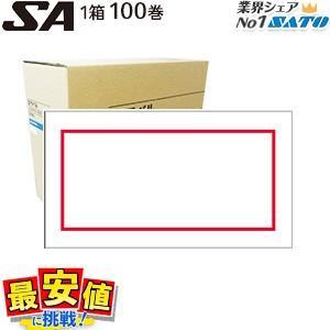 ハンドラベラーSATO /SA用ラベル/赤枠 /サトー 1箱/100巻 /ハンドラベル|nishisato