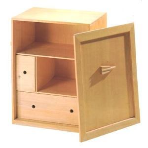 茶道具・茶懐石 木製うるし塗 一式用木製白木収納箱485013|nishiyamashikki