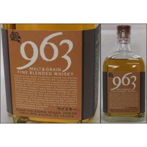 福島・笹の川酒造【963】モルト&グレーン ファイン ブレンデッドウイスキー59% 700ml