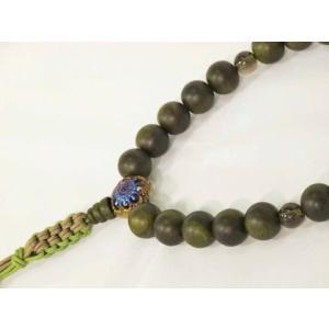 【オリジナル・逸品物】 念珠(数珠) 生命の樹 孔雀チタン 男性用|nissenren-kitaq