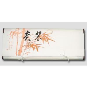 折らずに発送薄紙付きもの文庫紙(たとう紙) 朱竹柄87cm(着物用)内張付 5枚組|nissenren-kitaq