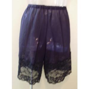 綿ローン(綿100%)のキュロットペチコートMサイズ,裾レース15cm,キャナック 日本製|nissenren-numazu