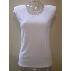 肩パット付きインナーフレンチ袖(綿100%),レースナシパット取り外し可能 10%off ネコポス可 日本製 BON|nissenren-numazu