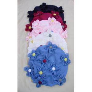 髪のお手入れにお花いっぱいナイロンシャワーキャップ,ポテチーノさえら日本製ネコポス可,|nissenren-numazu