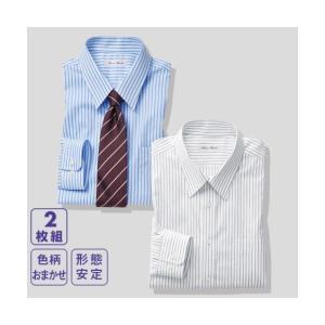 ワイシャツ 大きいサイズ ビジネス メンズ おまかせ形態安定 2枚組 レギュラーカラ―  4686/...