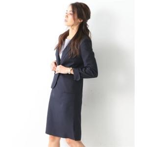 レディーススーツ 洗える◎足さばきのよいサイドタックタイトスカートスーツ ニッセン nissen|nissenzai|15
