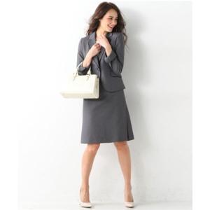 レディーススーツ 洗える◎足さばきのよいサイドタックタイトスカートスーツ ニッセン nissen|nissenzai|18