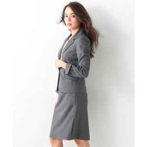 レディーススーツ 洗える◎足さばきのよいサイドタックタイトスカートスーツ ニッセン nissen|nissenzai|20