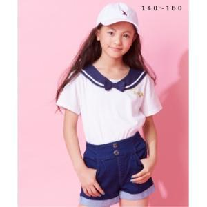 1b4d15e2e0838 Tシャツ カットソー キッズ セーラー 女の子 子供服・ジュニア服 トップス 身長140 150 160cm ニッセン