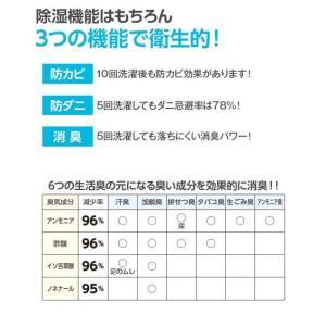 洗える多機能除湿シート 除湿・防ダニ・防カビ・消臭 年中  シングル ニッセン|nissenzai|02