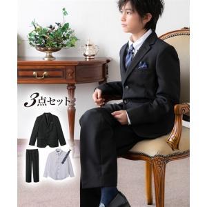 89955186fff9e スーツ フォーマル キッズ 卒業式 3点セット ジャケット + シャツ パンツ 男の子 子供服 ジュニア服 年中 ウェア  身長140 150 160cm ニッセン